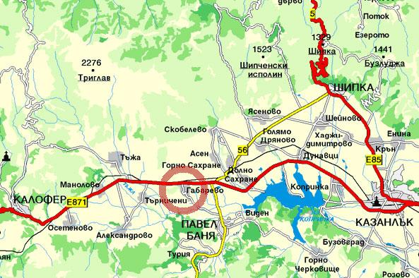 Село Габарево, Павел баня - КАРТА